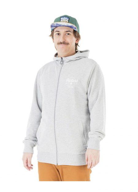 Picture Slate zip sweater grijs