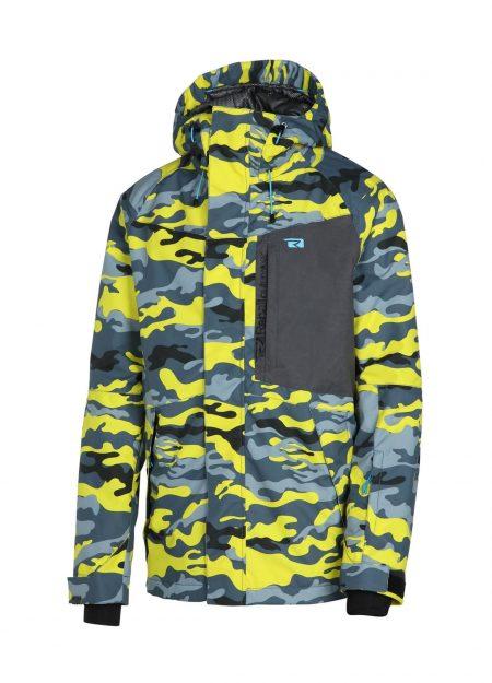 Rehall FAYKE-R Snowjacket camo yellow