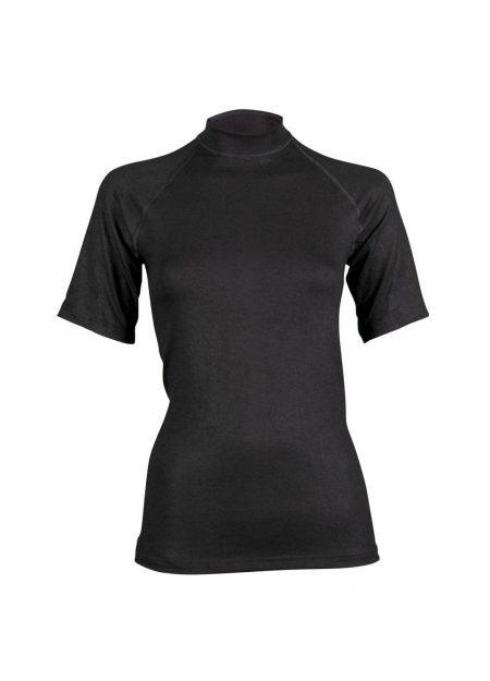 RJ Bodywear thermo shirt korte mouwen dames zwart