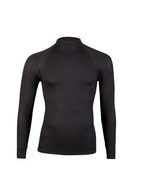 RJ Bodywear thermo shirt lange mouwen heren zwart