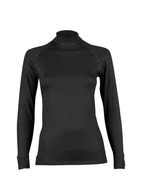 RJ Bodywear thermo shirt lange mouwen dames zwart
