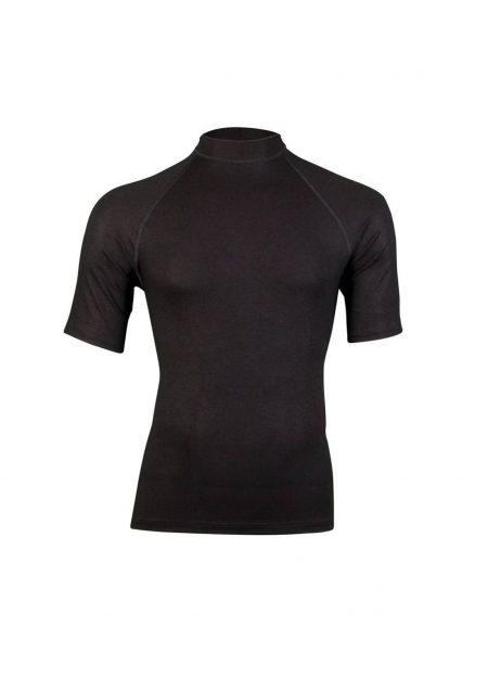 RJ Bodywear thermo shirt korte mouwen heren zwart