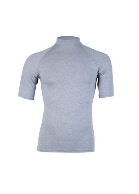 RJ Bodywear thermo shirt korte mouwen heren grijs