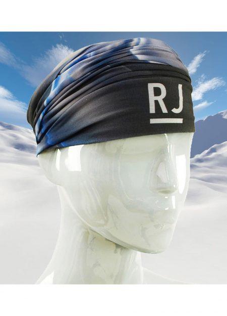 RJ Bodywear scarf print blue and black