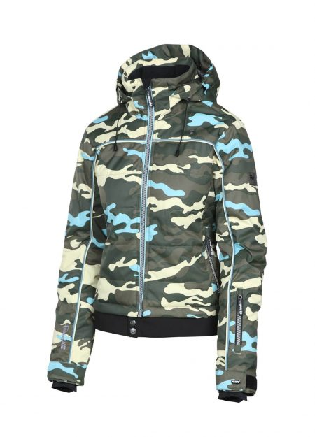 Rehall Vero-R snowjacket AOP Camo olive blue