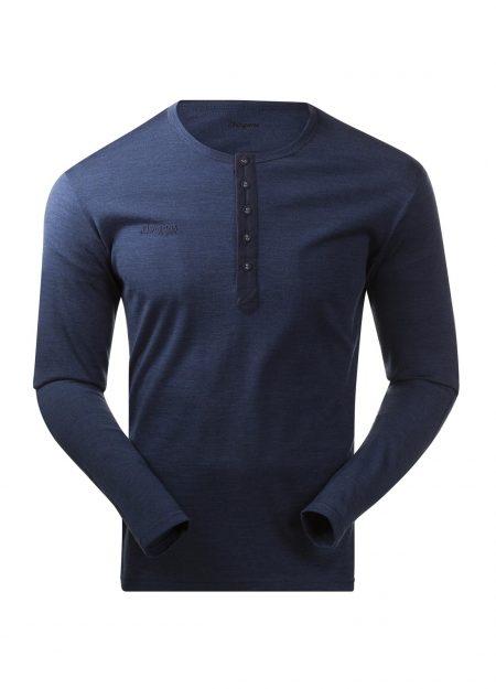 Bergans-Henley-Wool-shirt-navy-melange-VK-mountainlifestyle