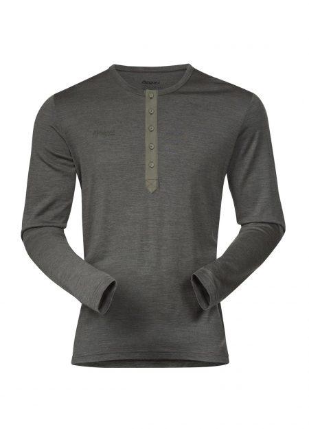 Bergans-Henley-Wool-shirt-seaweed-melange-VK-mountainlifestyle
