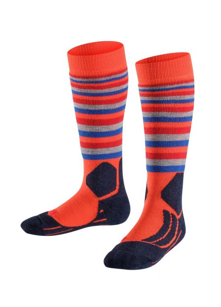 Falke-kids-sk2-stripes-orange-VK-bestelonline-mountainlifestyle.nl