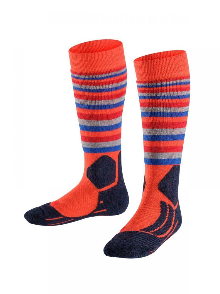 Falke-kids-sk2-stripes-orange-VK-bestelonline-mountainlifestyle.nl