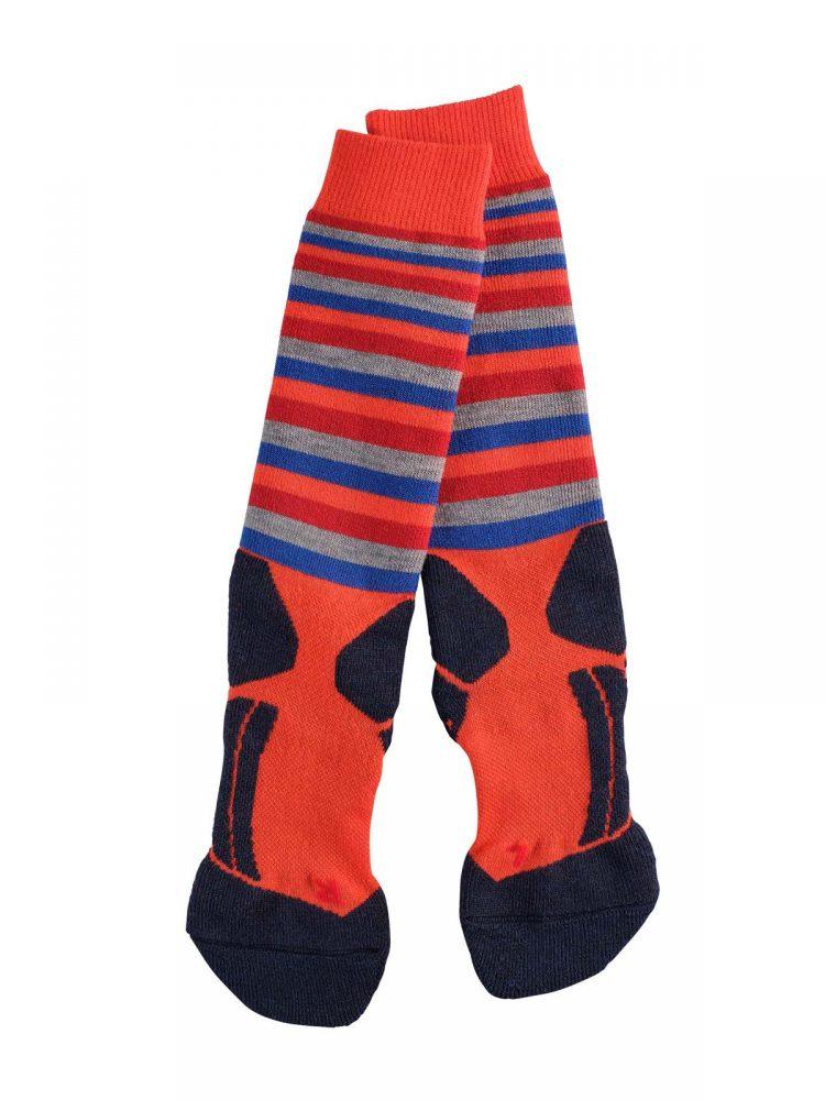 Falke-kids-sk2-stripes-orange-VK2-bestelonline-mountainlifestyle.nl