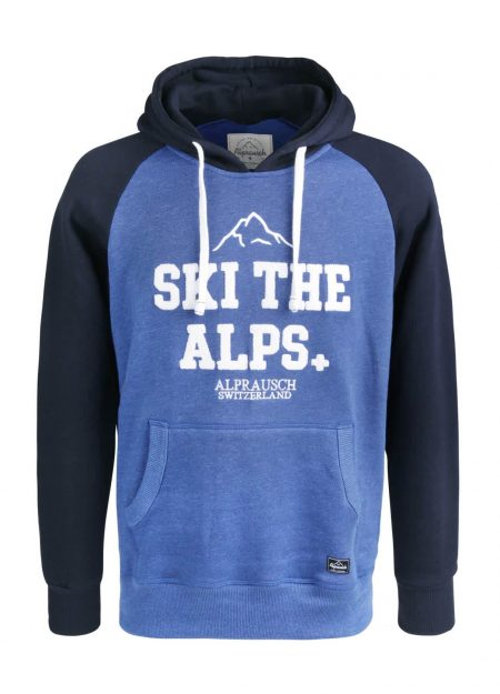 ALPRAUSCH – SKI THE ALPS HOODED SWEATER OLYMPIAN BLUE