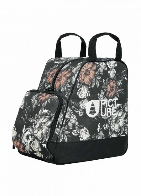 PICTURE – SHOES BAG PEONIES BLACK