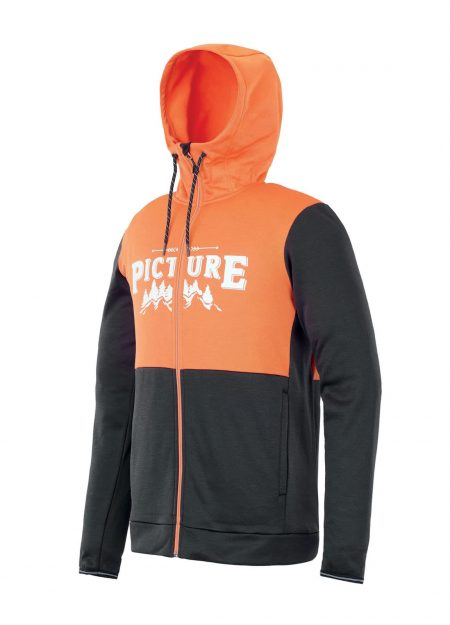 PICTURE – BAXTER ZIP TECH HOODIE ORANGE