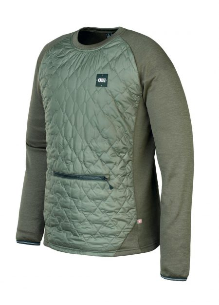 PICTURE – JUNIP TECKCREW MIDLAYER DARK ARMY GREEN