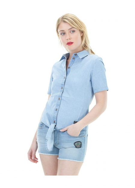 PICTURE – ARIA BLOUSE WASHED DENIM
